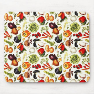Vintage Vegetables Mouse Pad
