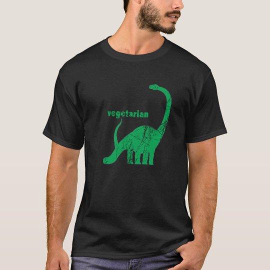 Vintage Vegetarian Brachiosaurus Green T-Shirt