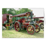 vintage vehicle and  trailer greeting card