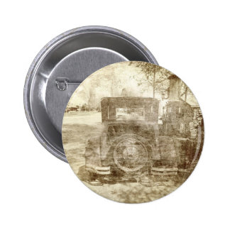 Vintage vehicle stopping for gas pinback buttons