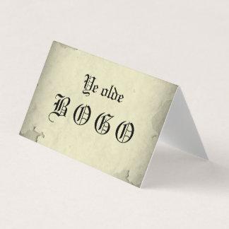Vintage Vellum BOGO Loyalty Folded Card