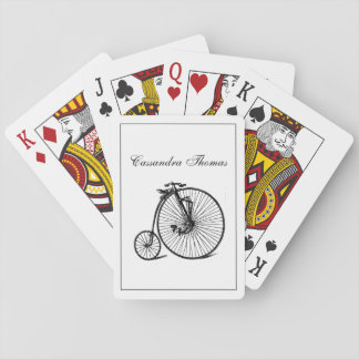 Vintage Velocipede Bicycle Bike Playing Cards