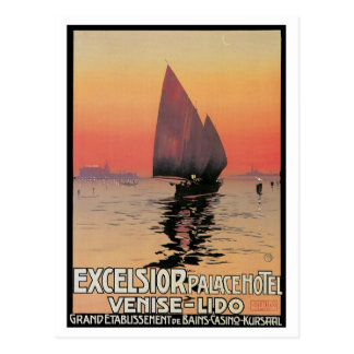 Vintage Venice Excelsior Palace Travel Ad Postcard