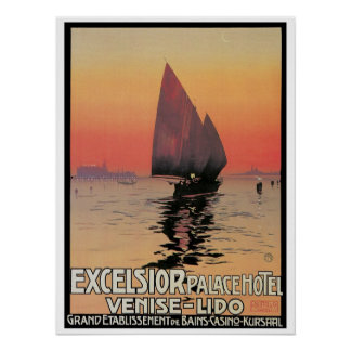 Vintage Venice Excelsior PalaceTravel Ad Poster
