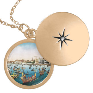 Vintage Venice, regatta Locket Necklace