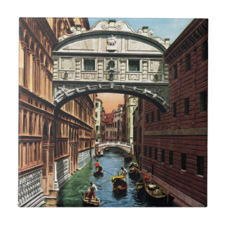 Vintage Venice, the Bridge of Sighs Tile