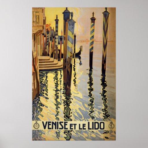 Vintage Venice Travel Poster