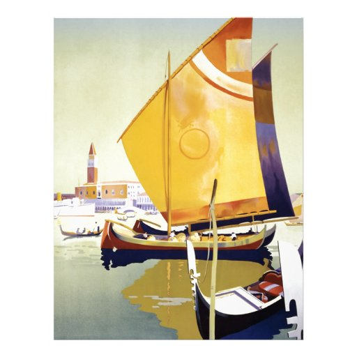 Vintage Venice Travel Poster Customized Letterhead