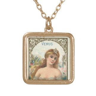 Vintage Venus Goddess of beauty necklace