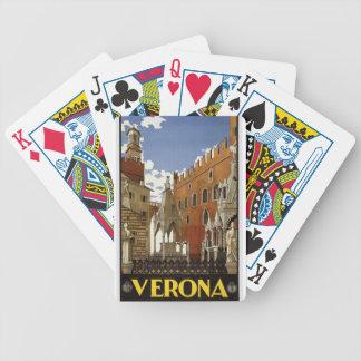 Vintage Verona Travel Bicycle Playing Cards