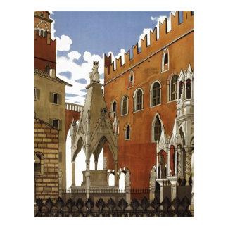 Vintage Verona Travel Letterhead