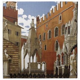Vintage Verona Travel Napkin