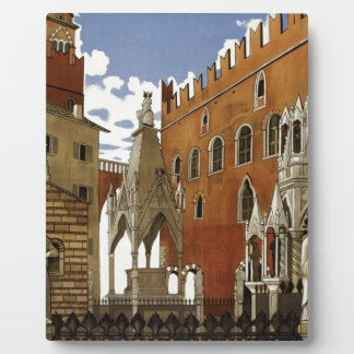 Vintage Verona Travel Plaque