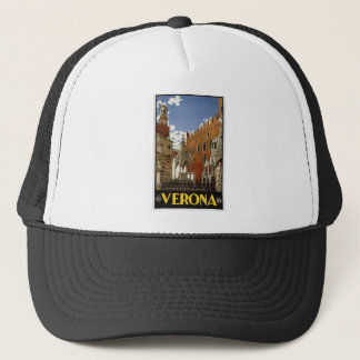 Vintage Verona Travel Trucker Hat