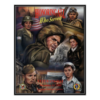 Vintage Veterans day, 1992  - Poster