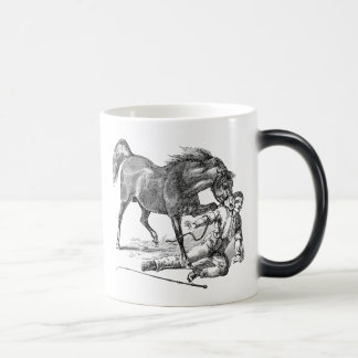 Vintage Vicious Biting Horse Template Magic Mug
