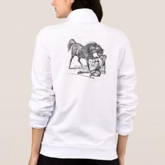 Vintage Vicious Biting Horse Template Printed Jacket