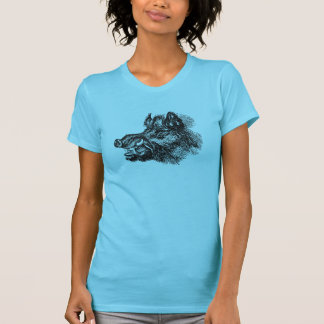 Vintage Vicious Wild Boar w Tusks Template T-Shirt