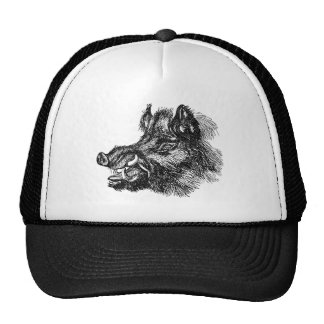 Vintage Vicious Wild Boar w Tusks Template Trucker Hat