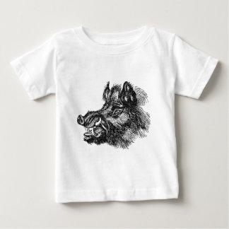 Vintage Vicious Wild Boar w Tusks Template Tshirt