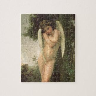 Vintage Victorian Angel Art, Cupid by Bouguereau Jigsaw Puzzle