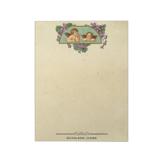 Vintage Victorian Angel Art | Custom Vintage Paper Notepad