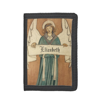Vintage Victorian Angel by William Morris Trifold Wallets
