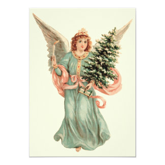 Vintage Victorian Angel Christmas Party Invitation