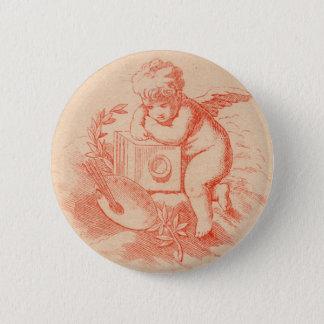 Vintage victorian angel cupid button
