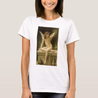 Vintage Victorian Angel, Prisoner by Bouguereau T-Shirt