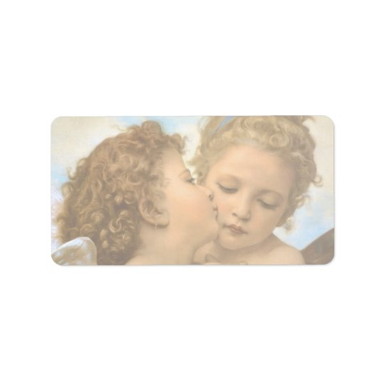 Vintage Victorian Angels, First Kiss by Bouguereau Label