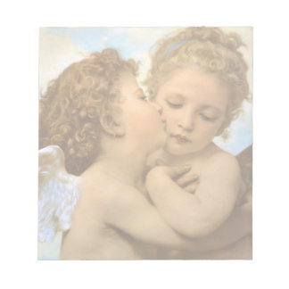 Vintage Victorian Angels, First Kiss by Bouguereau Notepad