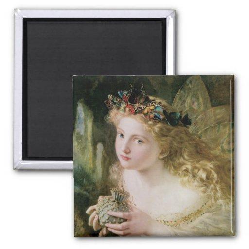 Vintage Victorian Art, Beautiful Fairy Butterflies Magnet