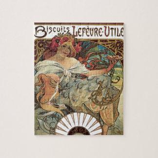 Vintage Victorian Art Nouveau by Alphonse Mucha Jigsaw Puzzle