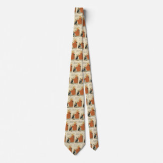 Vintage Victorian Art Nouveau, Girl with Milk Cats Tie
