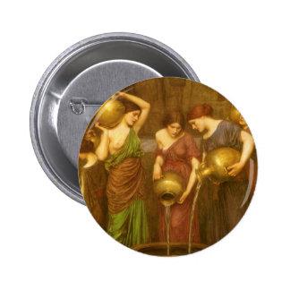 Vintage Victorian Art, The Danaides by Waterhouse 2 Inch Round Button