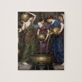 Vintage Victorian Art, The Danaides by Waterhouse Jigsaw Puzzle