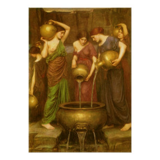 Vintage Victorian Art, The Danaides by Waterhouse Poster