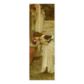 Vintage Victorian Art, The Shrine by JW Waterhouse Mini Business Card