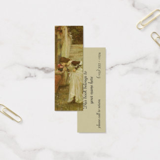 Vintage Victorian Art, The Shrine by JW Waterhouse Mini Business Card