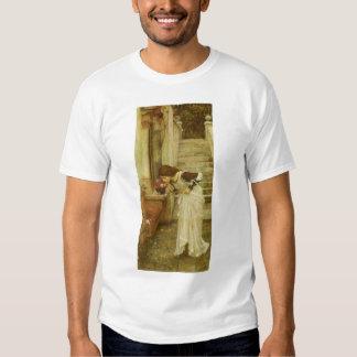 Vintage Victorian Art, The Shrine by JW Waterhouse Tshirts