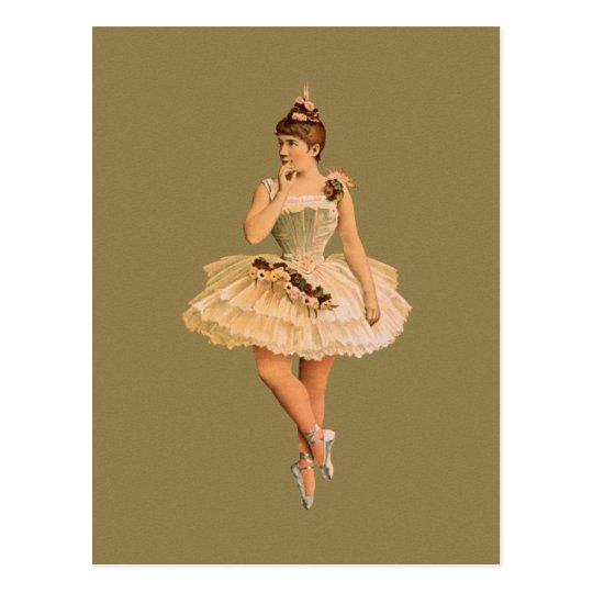 Vintage Victorian Ballerina Postcard