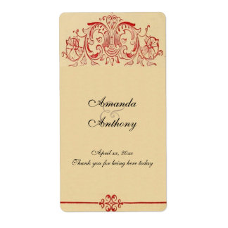 Vintage Victorian,  Baroque, Wedding Wine, Custom