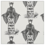Vintage victorian bat woman textile fabric