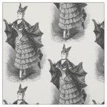 Vintage victorian bat woman textile fabric