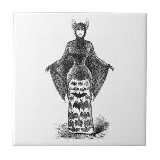 Vintage victorian bat woman tiles