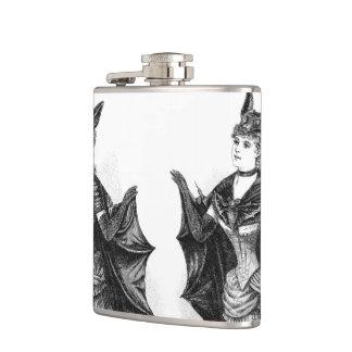 Vintage victorian bat women flask