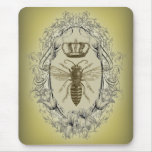 Vintage Victorian Bee Queen  crown Fashion Mousepads