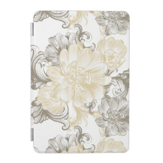 Vintage Victorian Beige floral vines pattern iPad Mini Cover