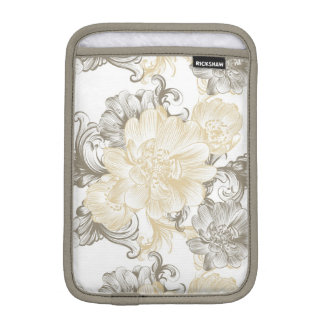 Vintage Victorian Beige floral vines pattern iPad Mini Sleeve